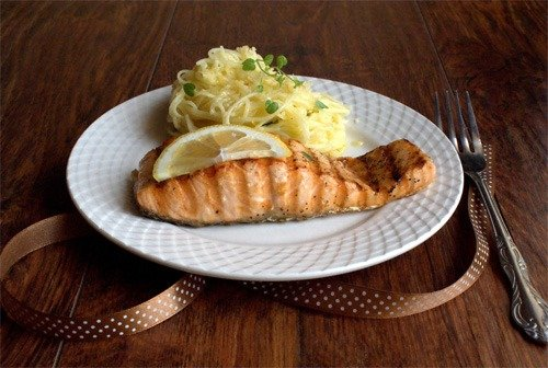 ready grilled salmon