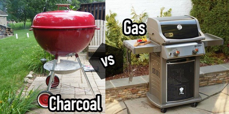 gas grill versus charcoal grill