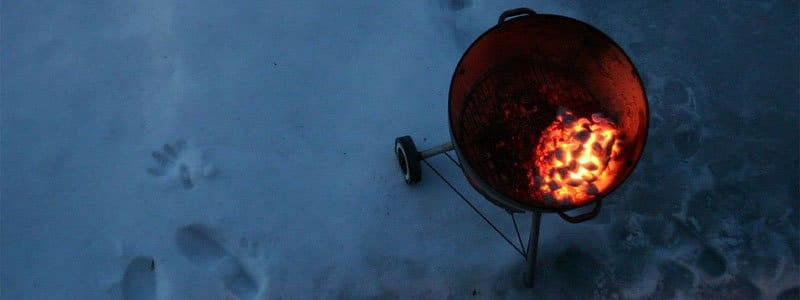 start your smoker in the winter