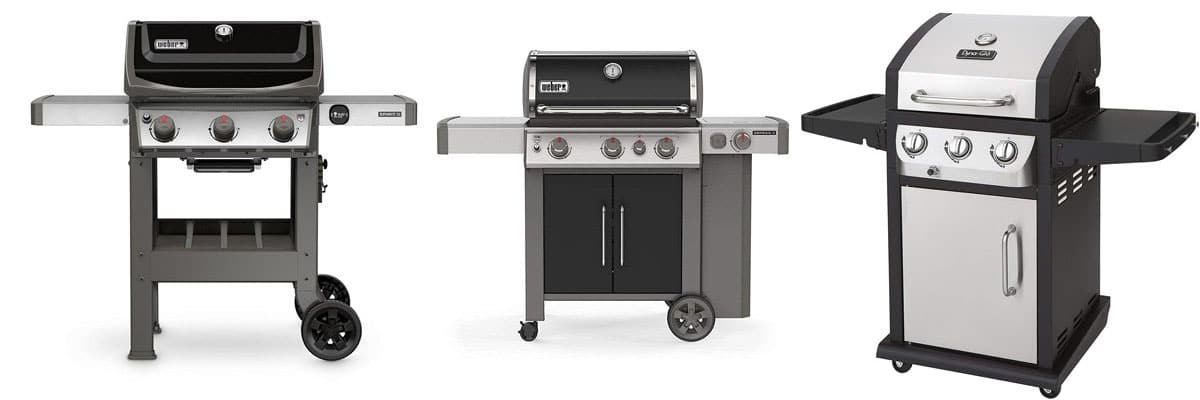three-burner gas grills
