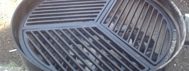 clean cast iron grill grates