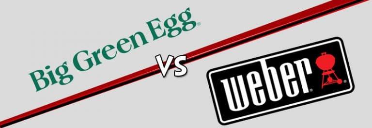 big green egg vs weber