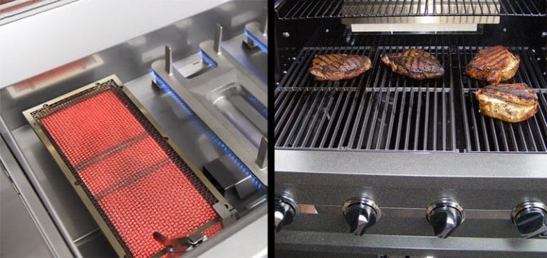 infrared vs gas grilling